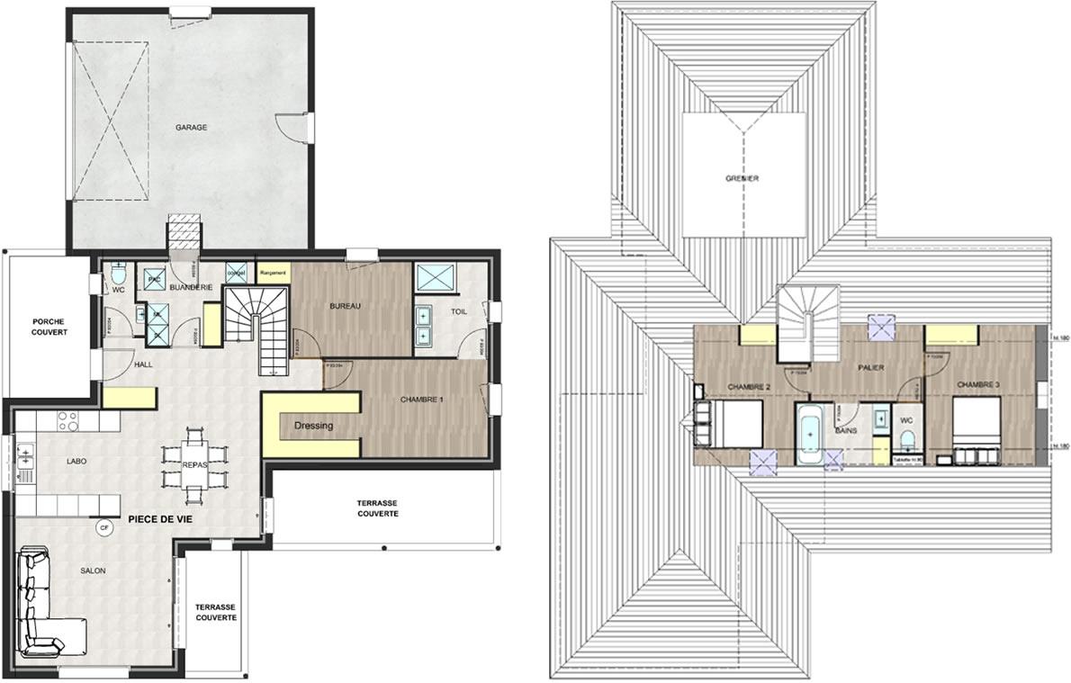 Maisons ligne sud maison traditionnelle de 133 m for Planificateur de maisons en ligne
